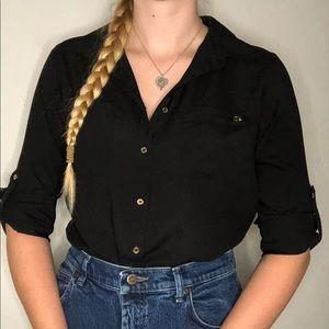 Calvin Klein Women's Button Up Blouse